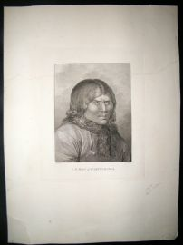 Webber 1785 LG Folio Antique Print. A man of Kamtschatka, Russia Cook Voyage